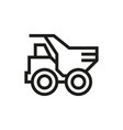 dump truck icon on white background vector image vector image