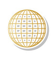 earth globe sign golden gradient icon vector image vector image