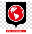 Earth Shield Eps Icon vector image vector image