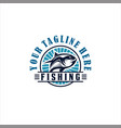 fishing tournament design logo collection vector image vector image