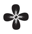 flat black petals icon vector image vector image