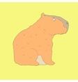Flat hand drawn icon of a cute capybara vector image vector image