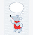 flat mice with thought cloud vector image