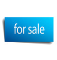 for sale blue paper sign on white background vector image vector image