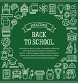 frame school education icons vector image