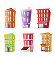 funny buildings set vector image vector image