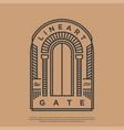 gate or door logo with line art vector image vector image