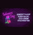 glowing neon banner of 8 march holiday with vector image vector image