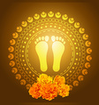 god foot print vector image