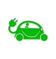 Green electric car icon simple style vector image