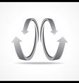 Grey business arrow icon