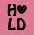 happy love day black letters with pearl collars vector image vector image