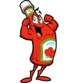 Healthy Ketchup Bottle vector image vector image