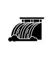 hydroelectric power station black icon vector image