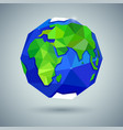 icon of globe or earth planet vector image vector image