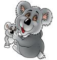 Koala Bear And Cub vector image