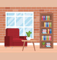 living room place with sofa vector image vector image