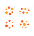 loading process icon set orange and red vector image