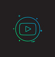 media network social youtube vector image