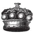 official coronet of a european baron vintage vector image vector image