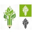 Pencil like tree vector image