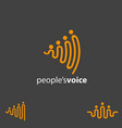 people voice concept symbol vector image