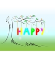 Picture of tree with text vector image vector image