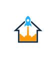 rocket house logo icon design vector image