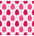 seamless pattern of bright pink starry easter eggs vector image