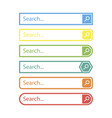 search bar design element in flat style vector image vector image