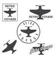 Set of vintage retro grunge aeronautics flight vector image vector image