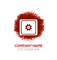 setting icon - red watercolor circle splash vector image
