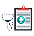 stethoscope with medical order vector image