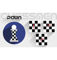The moves of the chess pawn vector image vector image