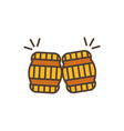 two barrel toast oktoberfest icon line filled vector image vector image