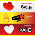 valentines day set holiday banners for sale vector image vector image