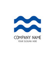 wavy lines logo for business company vector image vector image