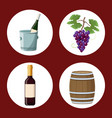 winery elements and icons vector image vector image