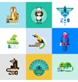 Zoo Logo Set vector image