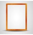 blank wooden frame vector image