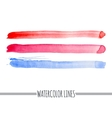 Set of colorful watercolor grunge bands vector image