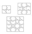 Three puzzle vector image