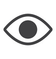 eye glyph icon web and mobile lens sign vector image