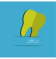 Human tooth with a ribbon vector image