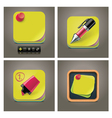 sticky note icon set vector image