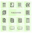 14 publication icons vector image vector image