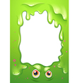 A border design with a monsters eyes vector image vector image