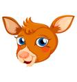 A head of a deer vector image