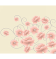 Abstract composition with flowers vector image