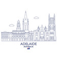 adelaide city skyline vector image vector image